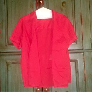 Basic Edition Red Summer Blouse